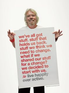 Live happily ever active. Richard Branson Quotes, Great Entrepreneurs, Social Media Updates, Marketing, Great Quotes, Make Me Smile, Blog, Wisdom, How To Get