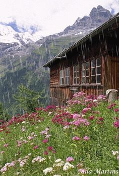 Der Alm Onkel/ mountain cabin in Switzerland by sweetcaza Beautiful World, Beautiful Places, Cabin In The Woods, Cabins And Cottages, Log Cabins, Cabin Homes, Log Homes, The Great Outdoors, Wonders Of The World