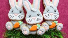 Bunny cookie tutorial for easter by hanielas easterspring easter cookies 3d easter bunny cookies in royal icing by montreal conf negle Images