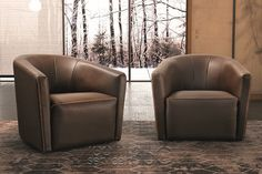 Sharon Leather Armchair by Gamma Arredamenti