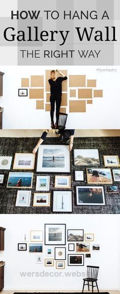How to Hang a Gallery Wall the Right Way We're always looking for cheap and easy DIY wall decor ideas. A DIY gallery wall is the perfect way to display your favorite family photos! Click  ..  http://www.wersdecor.website/2017/04/30/how-to-hang-a-gallery-wall-the-right-way/