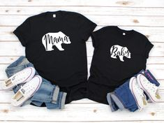 Mama Bear Baby Bear Shirts Mommy And Me Outfits Mummy And ME Outfits Mom And Daughter Shirts Father And Son Shirts Family Shirts #fatherofthebrideoutfit #father #of #the #bride #outfit #father #of #the #bride #outfit #dads #casual