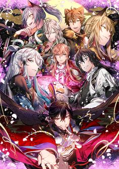 Rejet, Demon Wolf, Handsome Anime Guys, Manga Boy, Romantic Couples, Anime Demon, Touken Ranbu, Hot Boys, Cartoon Art