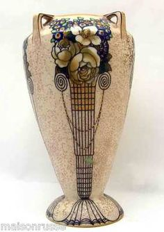 Ernst Wahliss Amphora Decorated Porcelain Vase C 1910 Turn Vienna Art Nouveau   eBay