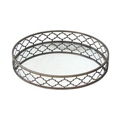 Metal Foil Tray with Mirror- 20-in
