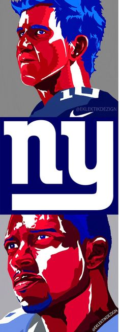 New York Giants Illustration - Eli Manning - Victor Cruz #NYGIANTS
