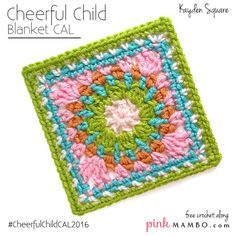 Kayden Afghan Square Free Crochet Pattern from Pink Mambo