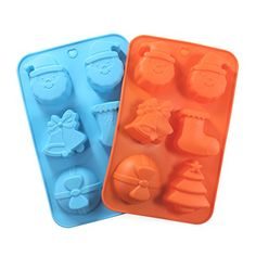 Cake Bread Molds 2PCS YYP 6 Cavity Christmas Hat Shape Mold Silicone Cake Bread Making Mold for Home Baking  Reusable Silicone DIY Baking Molds for Chocolate Jelly Candy Cake or More Set of 2 *** Visit the image link more details.