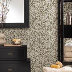 Stone Wallpaper Cool Bathroom Accent