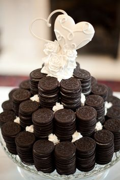 The groom's Oreo dessert replaced the traditional groom's cake! (Daniel Taylor Photography)