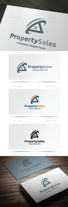 Property Sales Logo Design Template Vector #logotype Download it here:  http://graphicriver.net/item/property-sales/10432324?s_rank=1796?ref=nexion