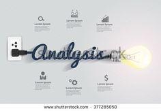 Analysis concept with creative light bulb idea, Vector illustration modern design layout template