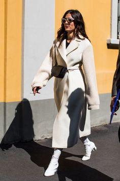 Street style at Fashion Week Spring-Summer 2018 Milan