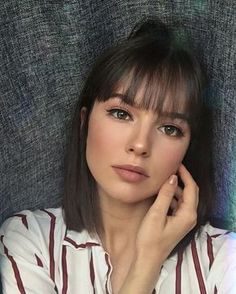 36 New Trendy Bob Hairstyles with Bangs Informations About 36 Neue Trendige Bob Frisuren Mit Pony Pi Haircuts Straight Hair, Bob Hairstyles With Bangs, Short Hairstyles For Women, Trendy Hairstyles, Straight Bangs, Haircut Short, Short Bangs, Hairstyle Short, Hair Updo