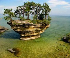 Turnip Rock, Michigan, USA