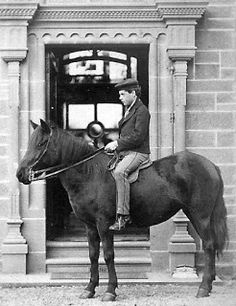 Tour Scotland Photographs: Old Photograph Man On Horse Perth Scotland
