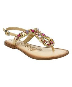 f2aefb6a6a5 Look what I found on  zulily! Nude Rock On Embellished Sandal  zulilyfinds T