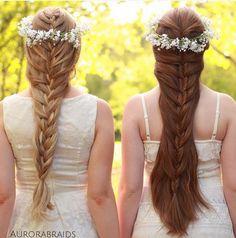 mermaid braids & flower crowns from aurorabraids.