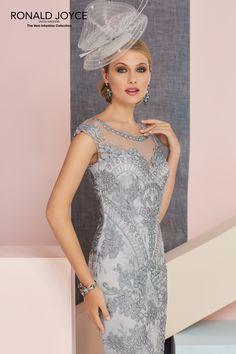 Ronald Joyce Dress With Jacket 991332 Colour Platinum