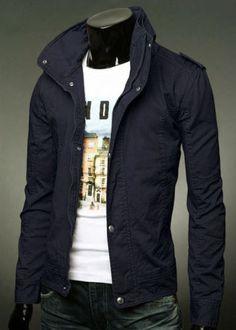 New-Mens-Slim-Fit-Casual-Zipper-Button-Top-Design-Military-Jackets-Rider-Coats