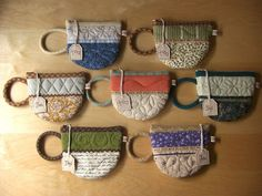 TeaCup pouches... I am CRAZY about these. What a darling gift - could be used as a coaster, mini recipe book cover for tea time snacks, etc.