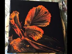 This is acrylic string pull technique. I used fluetrol, acrylic paint and water. Acrylic Pouring Techniques, Acrylic Pouring Art, Alcohol Ink Crafts, Mandala, Pour Painting, Painting Tips, Fluid Acrylics, Pics Art, Art Techniques