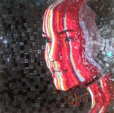 portrait, glass mosaic
