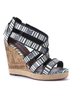 New Look ladies shoes - sandals, wedges, boots, high heels and more. Shop our fantastic range of shoes for women now. Cork Wedges, Shoe Gallery, Aztec, New Look, Monochrome, Shoes Sandals, High Heels, Black Pattern, Lady