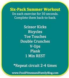 Six-pack Summer Abs Workout