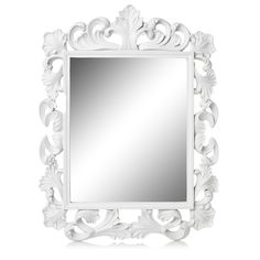 Bored by large white rococo mirror? With this in mind, it will give you an creative measures in order to decorate your mirror more gorgeous. Mirror Art, Floor Mirror, Mirror Ideas, White Mirror, White Home Decor, White Houses, Large White, Planer, Wall Art Decor