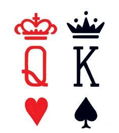 King & Queen Cards Tattoo #t4aw #tattooforaweek #temporarytattoo #faketatoo #king #queen #cards #tattoo