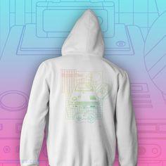 Retro gaming hoodie by Drew Wise. Hoodies, Sweatshirts, Zip Hoodie, Gaming, Graphic Sweatshirt, Retro, Sweaters, Fashion, Moda