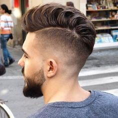 Cool! A wide variety of cool haircuts and men's hairstyles.  #Hair #Haircut #HairStyles #men #Trendy   http://www.menshairstyletrends.com/55-popular-mens-hairstyles-haircuts-2016/