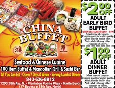186 best coupons for myrtle beach images myrtle beach resorts rh pinterest com china buffet coupons charlotte nc china buffet coupons omaha