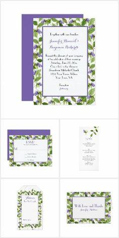 Delicate Purple Flowers and Green Leaves Weddings