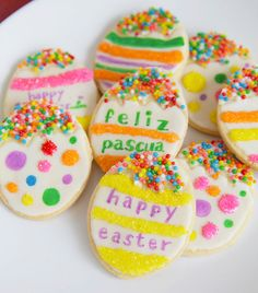 How to make sugar cookies that look like cascarones for Easter