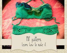 Receita de bikini de crochet Como fazer by Crochetbikinisbyfabi
