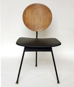 Design Exchange three-legged dining chair designed in 1958 by Stefan Siwinski Designs and Korina Designs