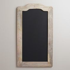 Farmhouse Chalkboard from Cost Plus World Market. Found this chalkboard to hang in Ciara's room. I love the simple, rustic frame and the large size of this board.