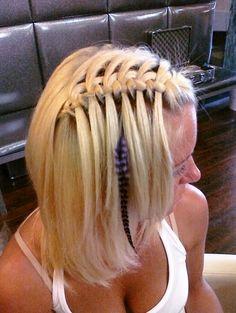 Stylish Waterfall Braid Hairstyles Teen Girls Sexy-Waterfall-Braid