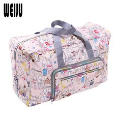 90579cf1543e1 WEIJU 2017 New Folding Travel Bag Large Capacity Waterproof Printing Bags  Portable Women's Tote Bag Travel Bags Women-in Travel Bags from Luggage &  Bags on ...