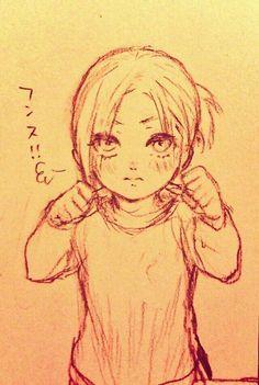 Shingeki no Kyojin┋Attack on Titan. A little Annie, credit to the artist. Levi X Eren, Armin, Tokyo Ghoul, Mikasa, Kuroko, Snk Annie, Female Titan, Annie Leonhart, Naruto