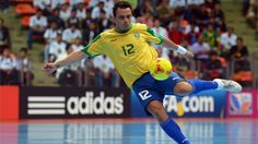 BANGKOK, THAILAND - NOVEMBER 14: Falcao of Brazil shoots on goal during the FIFA Futsal World Cup Quarter-Final match between Argentina and Brazil at Indoor Stadium Huamark on November 14, 2012 in Bangkok, Thailand. (Photo by Lars Baron - FIFA/FIFA via Getty Images)