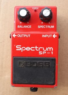 Boss Spectrum SG-1 Vintage 70s ,MIJ, good condition guitar pedal effect