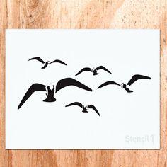 Seagulls Stencil
