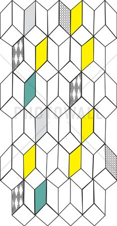 Dimensions - Blue Grey Yellow - Wall Mural & Photo Wallpaper - Photowall