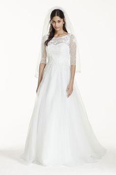 Long Sleeve Wedding Dress with Beaded Lace Style SWG685   Modest     Long Sleeve Wedding Dress with Beaded Lace Style SWG685   Modest Jewish  Wedding Ideas   Pinterest   Wedding dress  Gowns and Weddings