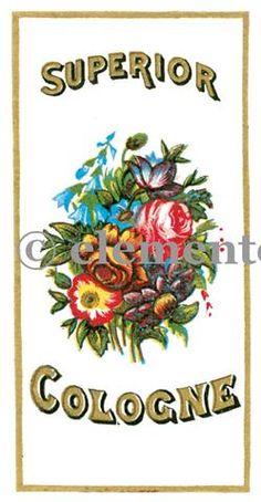 Vintage Perfume Label Image No. 04789 , Printable Digital Image File - elementologie, Vintage Market And Design