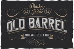 OldBarrel Vintage Typeface ~ Display Fonts on Creative Market