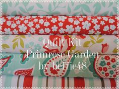 Rag Quilt Kit, Easy to Make, Personalized, Primrose Garden by Riley Blake